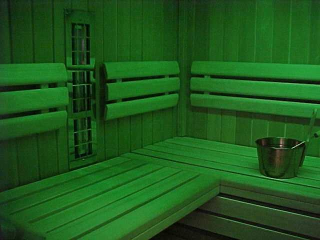 infrarot in der sauna zur r ckbestrahlung mit ir modul. Black Bedroom Furniture Sets. Home Design Ideas